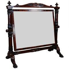 19th Century, Cuban Mahogany Cheval Table Mirror