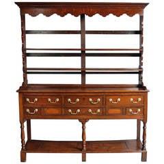 Welsh Oak Pot Board Dresser and Rack of Small Proportions