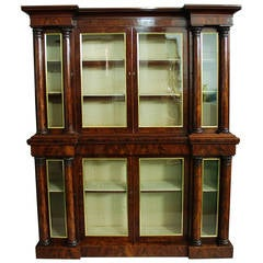 William IV Mahogany Inverted Breakfront Bookcase of Small Proportions