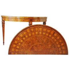 Pair of 18th Century Continental Console Tables with Parquetry tops