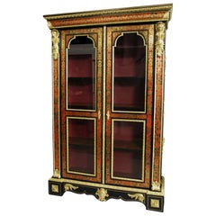 French Napoleon III Boulle Bibliotheque 'Bookcase'