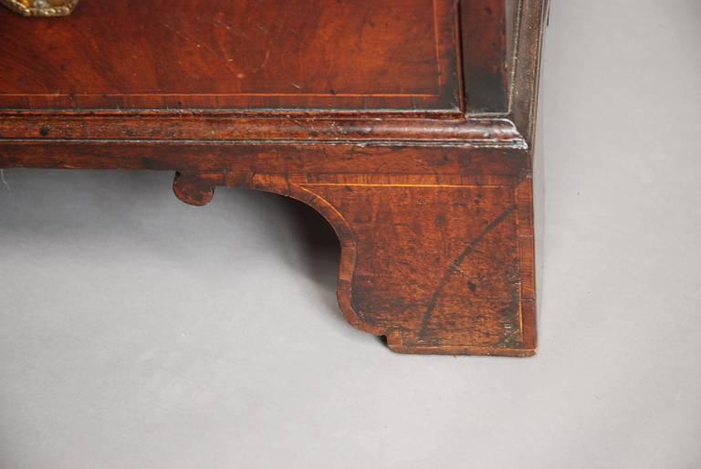 Late 18th century Mahogany Secretaire Bookcase For Sale 3