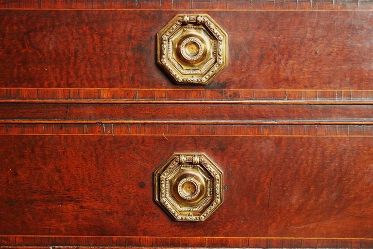 Late 18th century Mahogany Secretaire Bookcase For Sale 2