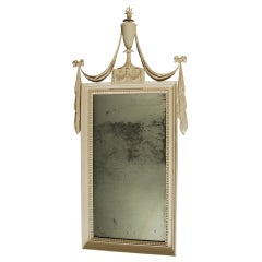 19th Century Pine Painted Pier Mirror in the Adam Style