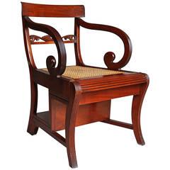 Regency Style Mahogany Metamorphic Chair