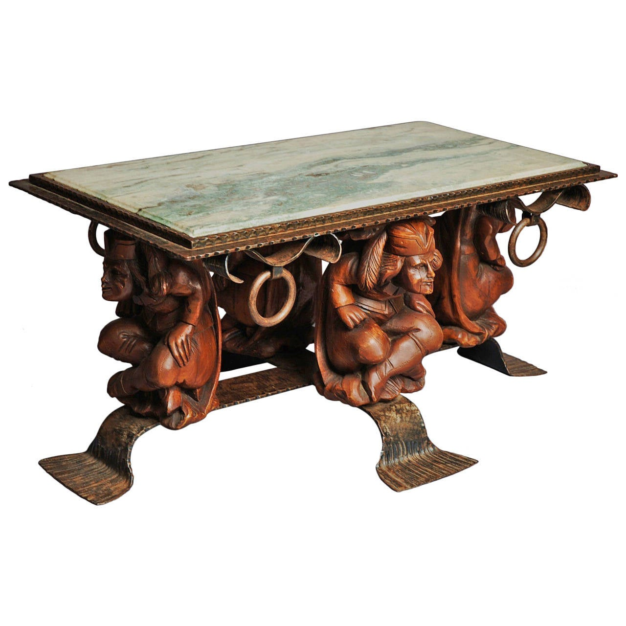 Decorative marble top coffee table for sale at 1stdibs Coffee tables with marble tops