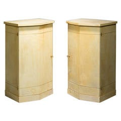 Marcel Coard, Pair of Parchment Cabinets