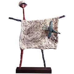 Jean Lambert-Rucki Bronze Epouvantail à l'Oiseau, circa 1938