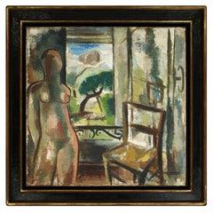 """Gio Colucci Painting """"Nu à la Fenêtre,"""" 1935"""