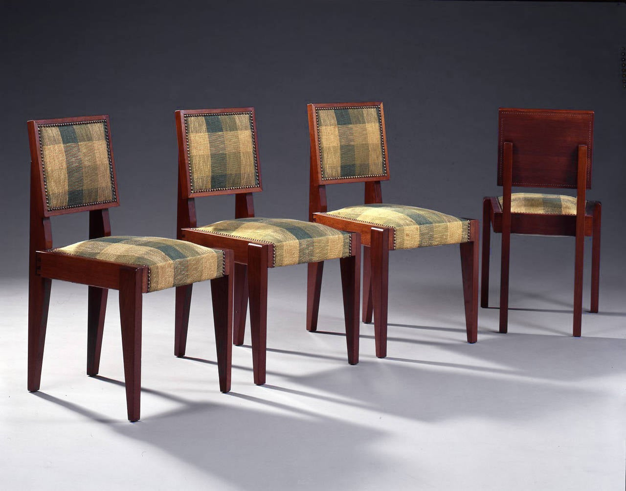 Andr sornay suite of four rosewood chairs circa 1927 - Dessus de chaises ...
