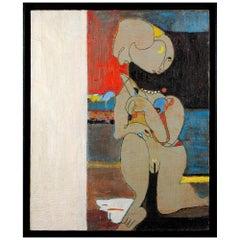 """Pierre Courtens """"Femme Nue au Collier,"""" circa 1960"""