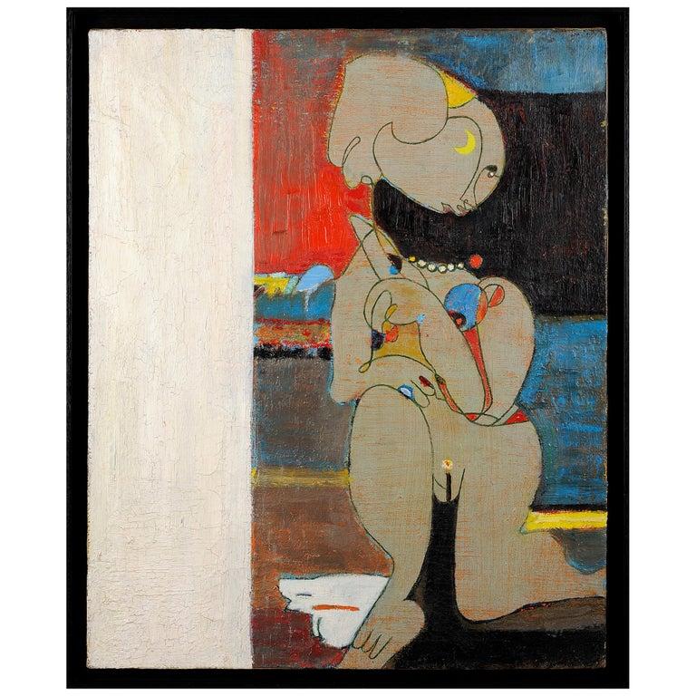 """Pierre Courtens """"Femme Nue au Collier,"""" circa 1960 For Sale"""