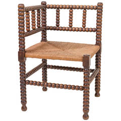 English Country Corner Chair, circa 1880