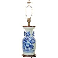 Chinese Porcelain Celadon Vase Lamp, circa 1900