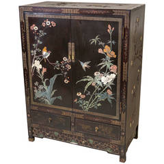 Chinese Coromandel and Lacquer Cabinet, Shanghai, China