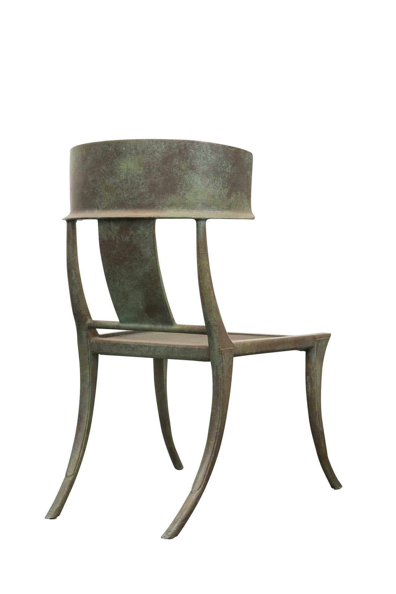 michael taylor set of four metal klismos chairs at 1stdibs