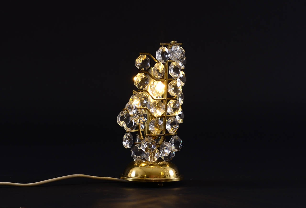 Austrian Mid Century Modern Petite Bakalowits Crystal Table Lamp, 1960 For Sale