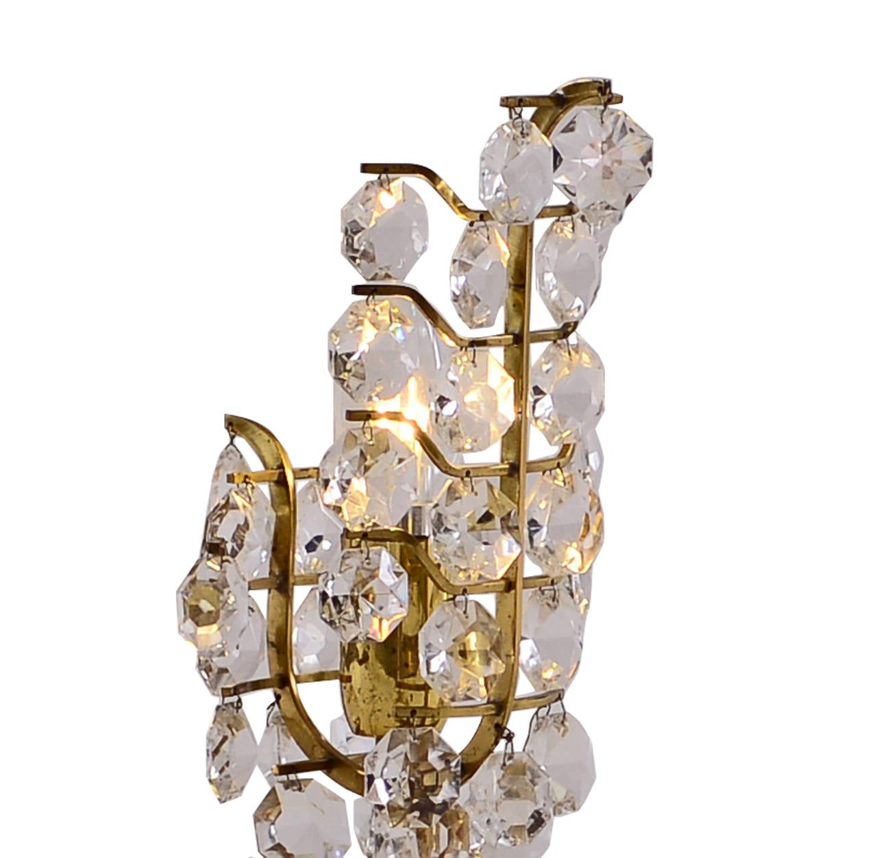 Mid-20th Century Mid Century Modern Petite Bakalowits Crystal Table Lamp, 1960 For Sale