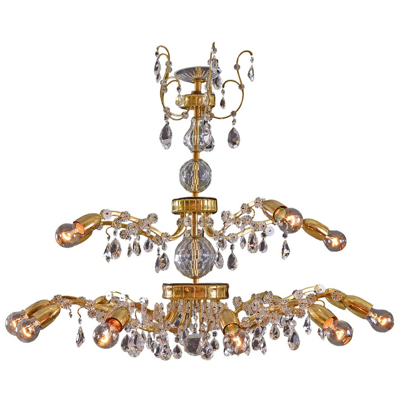Magnificent Lobmeyr Chandelier 1950 1960 For Sale At 1stdibs
