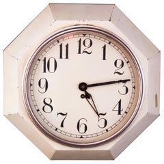 Original Art Deco Wall Clock by Adolf Loos early 20th Century - Functioning