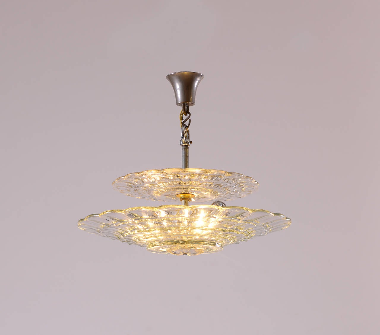 Unique Lobmeyr Crystal Glass Chandelier at 1stdibs