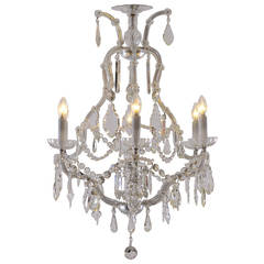 Parlor Chandelier Maria Theresia Baroque Style, 1920