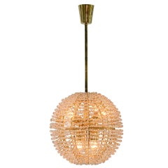 "Fireball Bakalowits ""Supernova"" Mid Century Modern Chandelier, 1960, Gold-Plated"