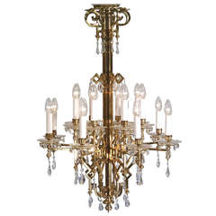 Restored Original Viennese Art Deco Chandelier