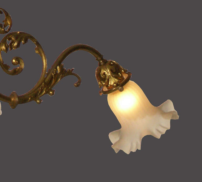 20th Century Original Typical Jugendstil /Secessionist Ringstrassen Style Chandelier  For Sale