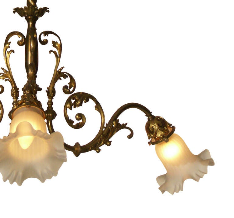 Austrian Original Typical Jugendstil /Secessionist Ringstrassen Style Chandelier  For Sale