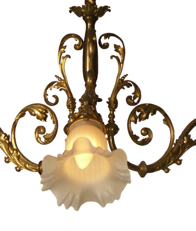 Hand-Crafted Original Typical Jugendstil /Secessionist Ringstrassen Style Chandelier  For Sale