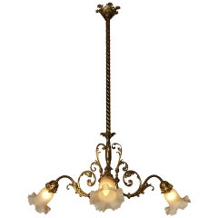 Original Typical Jugendstil /Secessionist Ringstrassen Style Chandelier