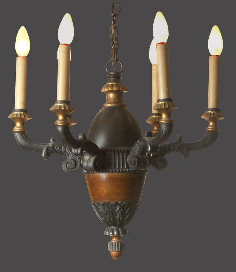 Austrian Hungarian Original Baroque Classicism Chandelier For Sale 4