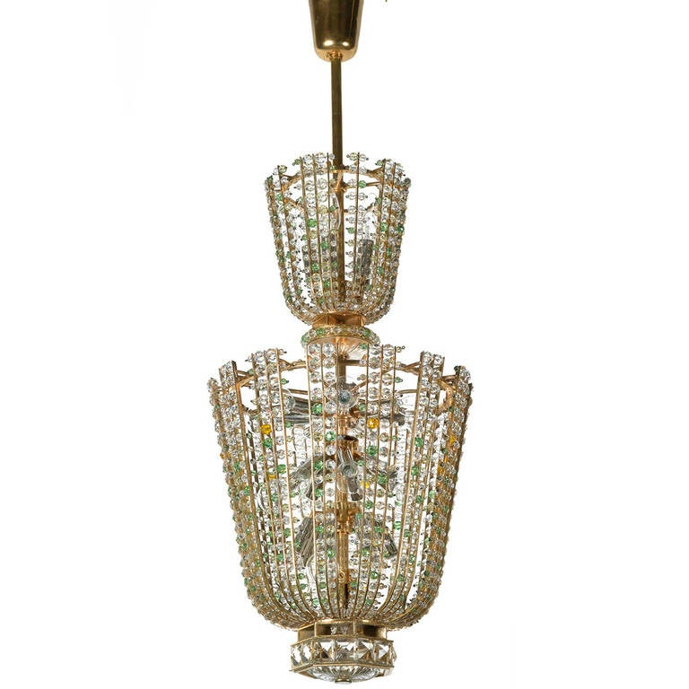 Terrific 1950s Vienna States, Opera House Chandelier by Bakalowits