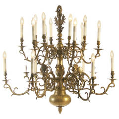 18th Century Large Polish Baroque Chandelier