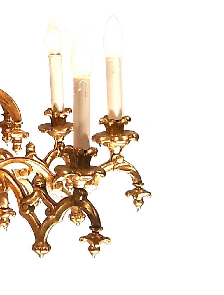 19th century historistic chandelier in the gothic style