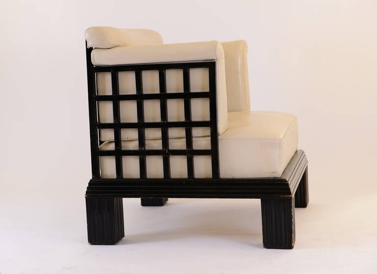 20th Century Original Art Deco Wiener Werkstaette Throne - Werkbund Exhibition Cologne 1914  For Sale
