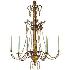 19th Century Carved and Gilded Chandelier