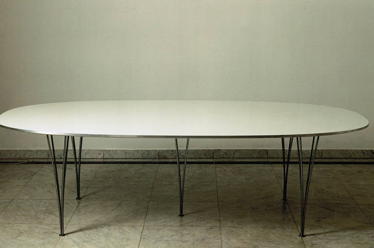Early And Rare Super Ellipse Table Piet Hein Manufactured