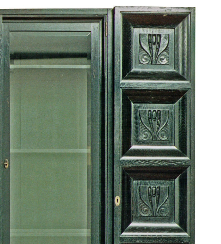 20th Century Bookcase/Cabinet Original of the Wiener Werkstätte (signed)- Koloman Moser, 1904 For Sale