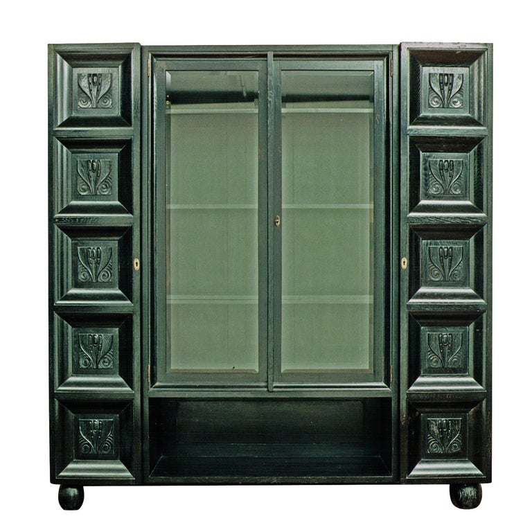 Bookcase/Cabinet Original of the Wiener Werkstätte (signed)- Koloman Moser, 1904 For Sale