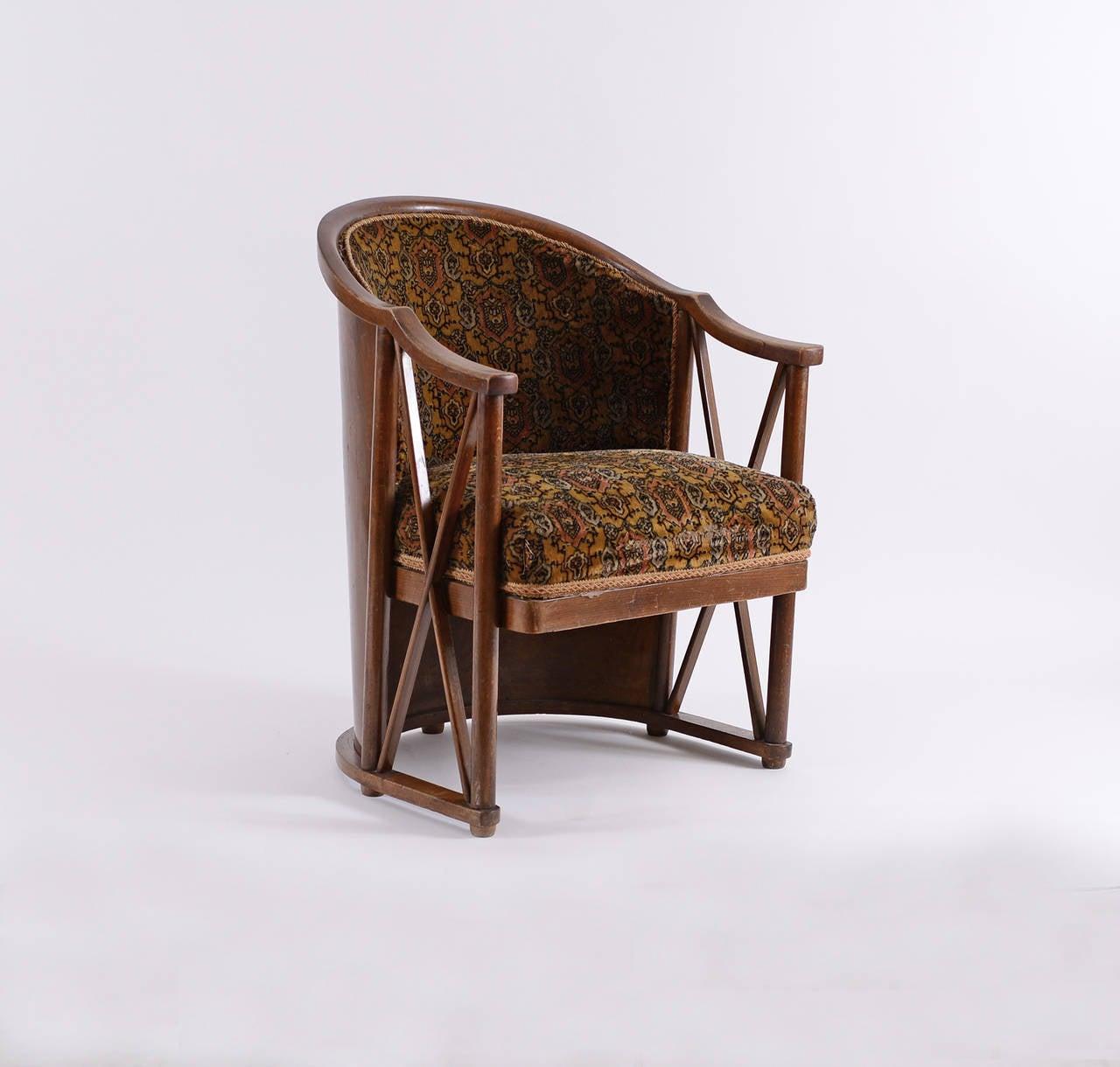 Extremely rare armchair by josef hoffmann for kohn at 1stdibs - Sofas ka internacional ...