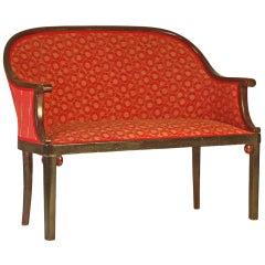 Original Josef Hoffmann Jugendstil early 20th Century Bench/Settee