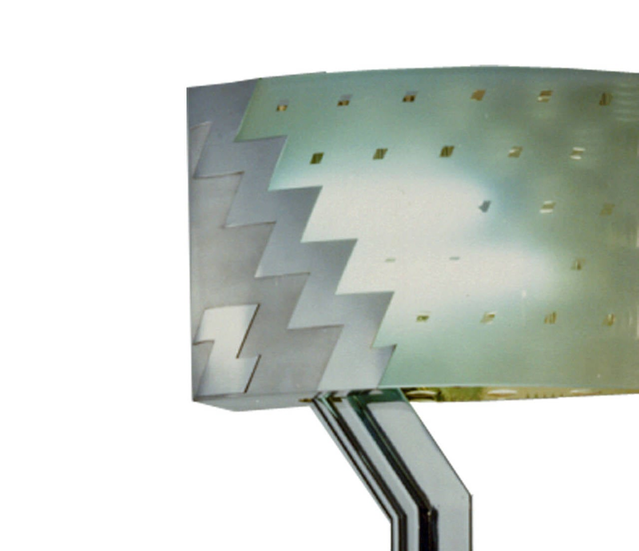 Chrome Post Modern Lamp by Hans Hollein For Sale