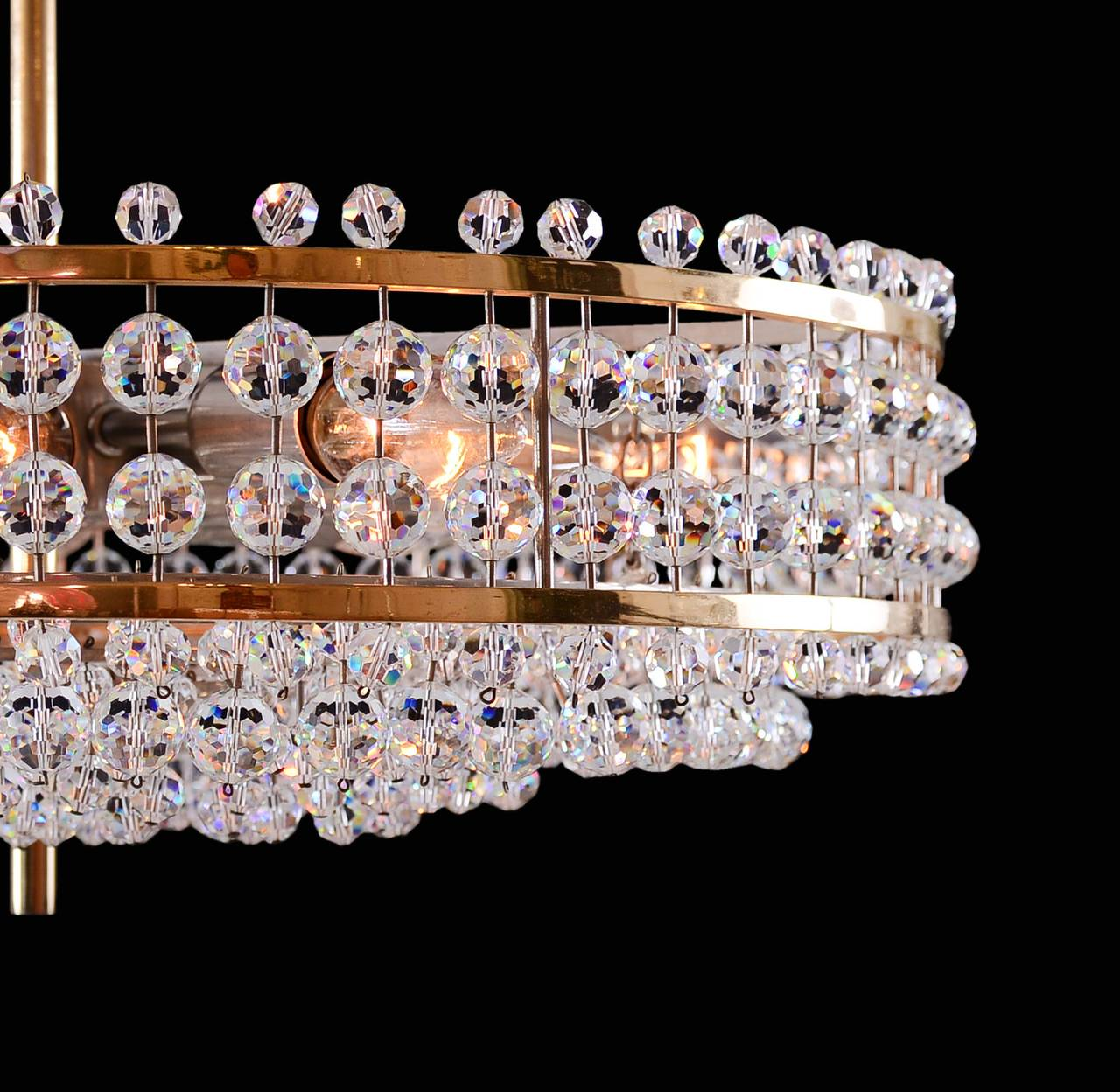 Hand-Crafted Mid century modern, vintage Bakalowits Crystal Chandelier  For Sale