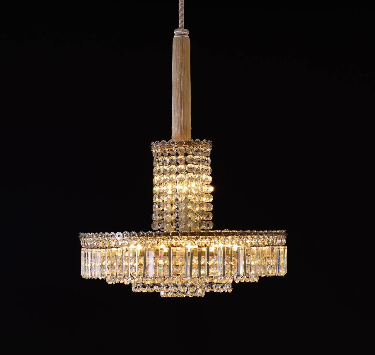 Austrian Original Elegant Mid-Century Modern Bakalowits Chandelier from the 1960s For Sale