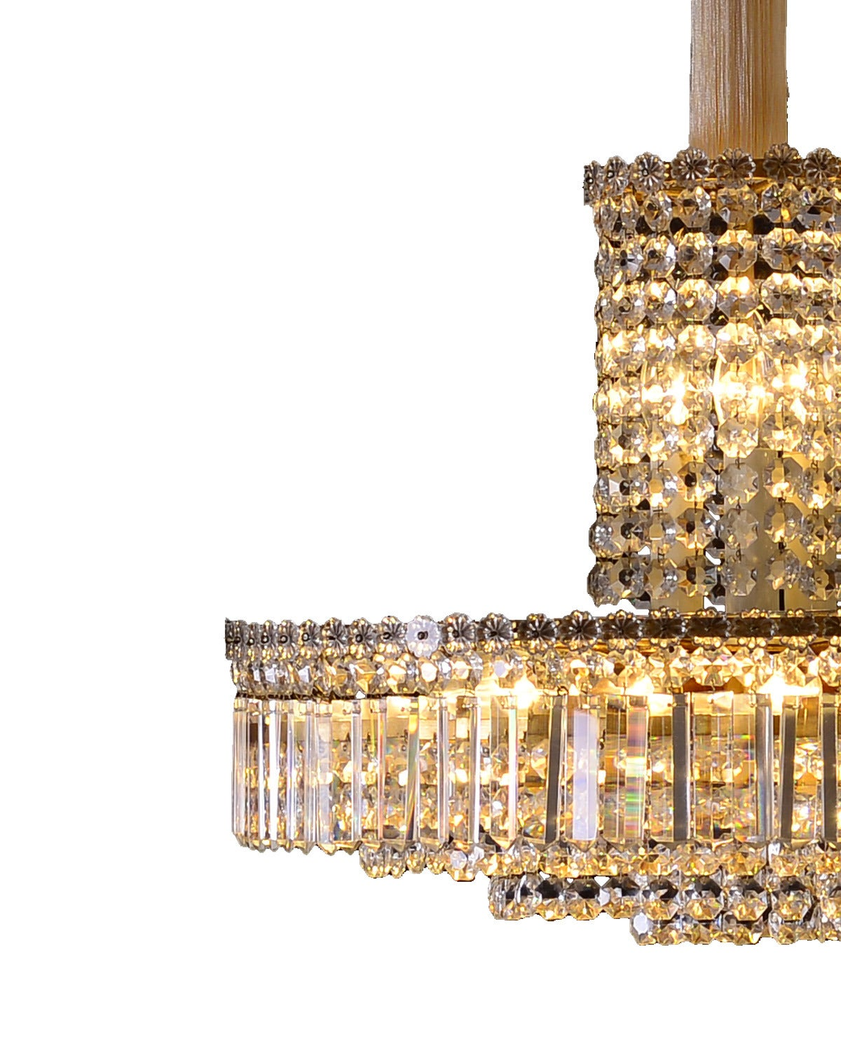 Original Elegant Mid-Century Modern Bakalowits Chandelier from the 1960s For Sale 1
