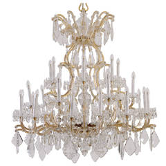 Very large magnificent Lobmeyr, Maria Theresien style Parlor Chandelier 1910/20