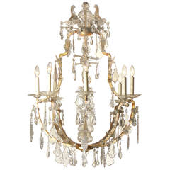 Magnificent Lobmeyr Maria Theresia Baroque Chandelier early 20th century
