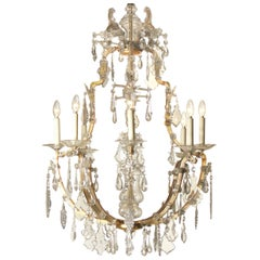 Magnificent large Lobmeyr Maria Theresia Baroque Chandelier 20th century